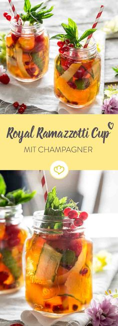 Der Stoff, aus dem erfrischende Sommerdrinks gemacht werden: Kräuterlikör, Champagner, zweierlei Zitrusnoten, Gurke, Ingwer, Minze und süße Beeren.
