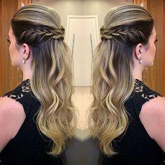 20 Hairstyle Ideas Loose Medium for trainees Simply Hairstyles, Bride Hairstyles For Long Hair, Braids For Long Hair, Long Hair Cuts, Down Hairstyles, Pretty Hairstyles, Braided Hairstyles, Hairstyle Ideas, Cabello Hair
