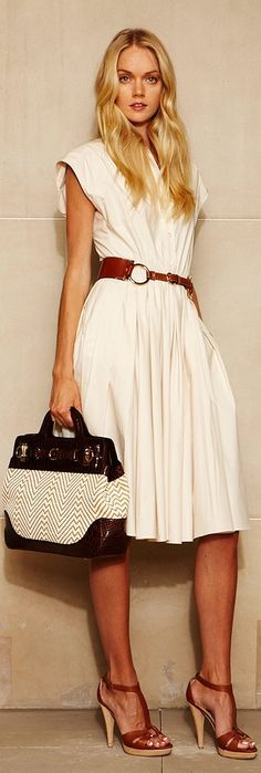 A bit too bulky on the top, but love the way this is a classic dress and the way it lays.