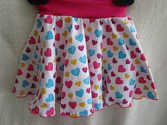 Detské oblečenie - Sukňa srdiečka - 8251570_