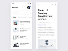 Pocket App designed by Alex Dyakov. Connect with them on Dribbble; the global community for designers and creative professionals. Ios App Design, User Interface Design, Web Design, Site Design, Mobile Application Design, Mobile Ui Design, Pocket App, Conception D'applications, Mobile App Ui