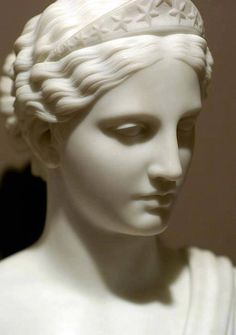 Regardintemporel: Hiram Powers - America, After Beautiful face and work of art! This is going to be in my house a years from now. Greek Statues, Ancient Greek Sculpture, Ancient Greek Art, Buddha Statues, Stone Statues, Angel Statues, Ancient Greece, Classical Art, Sculpting