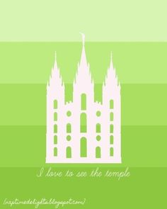 Naptime Delights: Salt Lake City Temple Print{s}-in many colors by carol.hasky