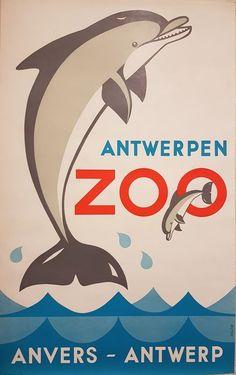 Online veilinghuis Catawiki: Hilde van Loock - Dolfijn - Antwerpen Zoo, Anvers Antwerpen- 1969