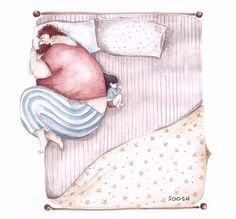 """Дочка и отец"", акварель, SOOSH от пользователя «Mama-T» на Babyblog.ru"