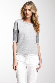 Fleece Scoop Neck Pullover Top