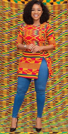 Most of us opt for Ankara dress designs that allow us with freedom and comfort to bill around. Ankara styles for weekends come in many patterns and designs. It is your choice to make when it comes to selecting the absolute Ankara dress designs and african Short African Dresses, African Blouses, African Shirts, African Print Dresses, Ankara Tops Blouses, African Fashion Ankara, Latest African Fashion Dresses, African Print Fashion, Africa Fashion