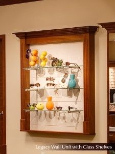 Wall Unit with Glass Shelves, Fashion Optical Displays