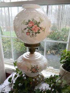 Antique Hurricane Lamps - Ideas on Foter Antique Hurricane Lamps, Hurricane Oil Lamps, Antique Oil Lamps, Antique Lighting, Vintage Lamps, Fenton Lamps, Milk Glass Lamp, Victorian Lamps, Globe Lamps