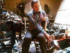 Francis Bacon -- ya gotta love this! He looks like a paint hoarder!