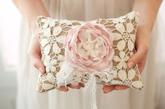 Ring Bearer Pillow rustic shabby chic romantic wedding от Cultivar, $75.00