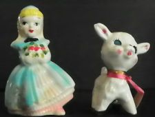 VINTAGE SALT & PEPPER SHAKERS MARY HAD A LITTLE LAMB 5480P