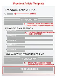 Freedom Article Template: Help Your Readers Achieve the Ultimate Benefit