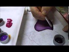 Pintura em Tecido - Berinjela -Série Iniciante - Graça Tristão - YouTube