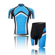 (Type:Set size:M) Breathable Sleeve Set perspiration Cycling pad Tops Short Sportswear Shirts Tights Shorts Comfortable Quick soft Jersey Dry Men Cool *** Read more  at the image link.