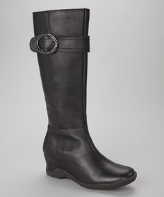 Another great find on #zulily! Black Kenda Waterproof Leather Boot by Santana of Canada #zulilyfinds