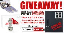 Win a AlTUS coil-less atomizer and BIG-GER Box Mod from @VapingCheap - http://vapingcheap.com/altus-big-ger-mod-giveaway/ #ecig #Vape