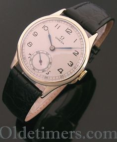 1940s 9ct gold round vintage Omega watch (4046)