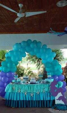 Mermaid Birthday Party Ideas | Photo 5 of 46 | Catch My Party