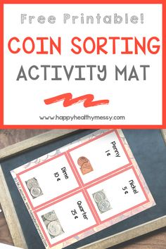 Help your kids learn the value of money with this free coin sorting mat! Teaching money skills is fun!