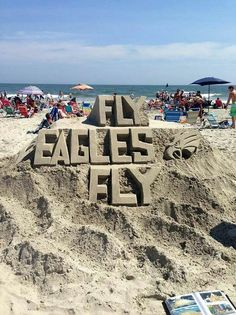 Philly Pride at the beach!! #ReppinPhillyEagles #BirdGang