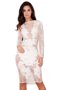 """""""Nolita"""" white lace long sleeved dress...if i could rock this!"""