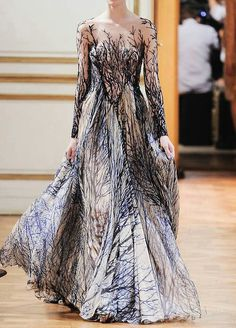 Forest effect fairy dress