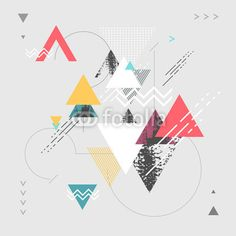 """Wall Mural """"abstract, geometric, triangle - abstract modern geometric"""" ✓ Easy Installation ✓ 365 Day Money Back Guarantee ✓ Browse other patterns from this collection!"""