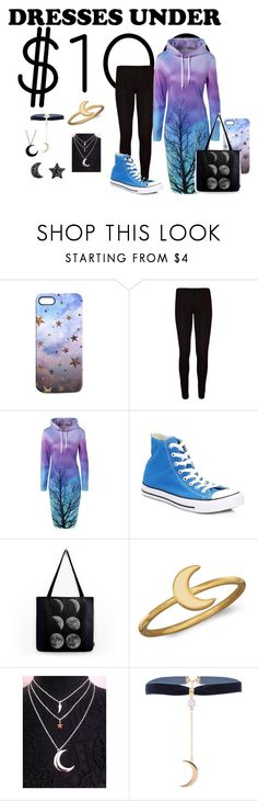 """""""Dresses Under $100 - Dark Woods and Night Air"""" by malecsizzyclace ❤ liked on Polyvore featuring Nikki Strange, WearAll, Converse, BillyTheTree and under100"""
