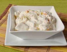 Ez a hamis krémtúrós recept eddig senkinek nem okozott csalódást Cold Dishes, Salad Recipes, Macaroni And Cheese, Food And Drink, Soup, Snacks, Chicken, Cooking, Ethnic Recipes