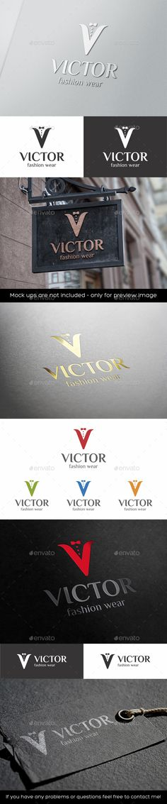 V Letter Logo Mens Fashion Wear — Photoshop PSD #Apparel Shops #fashion boutique • Available here → https://graphicriver.net/item/v-letter-logo-mens-fashion-wear/11333455?ref=pxcr