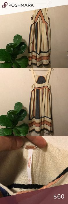New Free People One HAILEE SUNDRESS Sz Sm Ivory Victorian Lace Pleated Maxi
