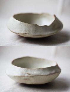 小皿を作ると大体この形になります。ぼくの定番です。great shape for a bowl.