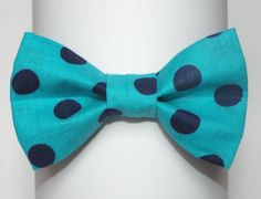 How sweet would newborn baby boy pictures be with this blue on blue bow tie! <3