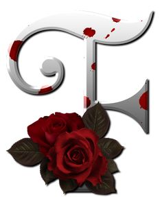 Gothic white alfabet with red rose Cute Alphabet, Alphabet And Numbers, Alphabet Letters, Monogram Design, Lettering Design, Decoupage, M Wallpaper, Minnie Png, Gifs