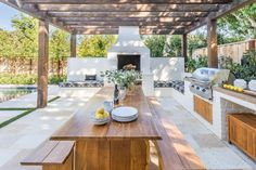 - The art of cooking outdoors has transformed, it is now possible to entertain your friends, family and guests in and elaborate, well-equipped outdoor k. Kitchen Best Outdoor Kitchen Decor Ideas For Perfect Kitchen Backyard Kitchen, Outdoor Kitchen Design, Kitchen Decor, Modern Outdoor Kitchen, Summer Kitchen, Porch Kitchen Ideas, Outdoor Kitchen Bars, Decorating Kitchen, Country Kitchen