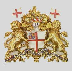 East India Company crest - on ships, flags, tea boxes (large tea chests) and shipping/import/export items.