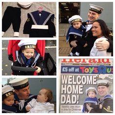 Royal Navy uniform. #hmsbulwark #RoyalNavy #daddy #WelcomeHome