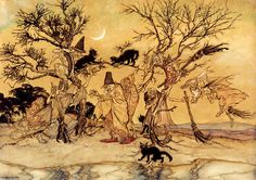 Arthur Rackham (1867-1939) The Witches Sabbath