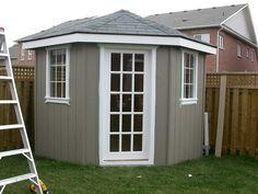 A corner Shed.  Good yard space saver.