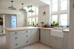 Pineland kitchens cabinets & worktops, I love the detail they did under the units to give it that freestanding feel