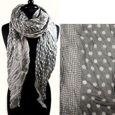 """**Coupon Code!** This darling polka dot scarf is only $14.60, PLUS get 10% off your entire order & FREE shipping with discount code """"SAVE10"""" at checkout..."""