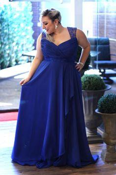 vestido de festa plus size para madrinha de casamento