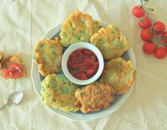 Pea and Courgette Fritters - Litttlemissmeatfree
