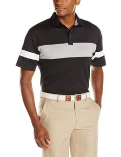 Ben hogan men s golf solid colorblock shirtsleeve polo shirt