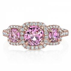 Pink Sapphire & Diamond Ring Would like lavender sapphire and diamond on white gold