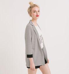 Striped+jacket