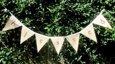 Blessed Burlap Banner - Rustic, Shabby Chic, Home Decor