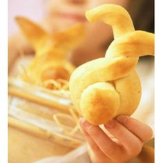 Bunny-Shaped Rolls  #Easter #Breakfast Ideas