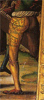 - OPUS INCERTUM - : LAS CALZAS-BRAGAS Bragas con listas. Hacia 1520-30, escuela castellana, colección privada (detalle